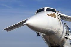 Tu-144 au salon aérospatial international de MAKS Images stock