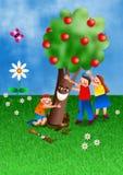 Tu B Shvat Jewish Holiday Cartoon royalty free illustration