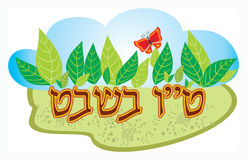 Tu-bi-shvat. Tu bi-Shvat, in the Jewish tradition - New Year's trees Royalty Free Stock Photos