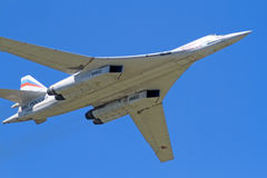 Tu-160 in the blue sky Stock Photos