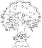 Tu-bshvat Baum, der für Früchte betet vektor abbildung