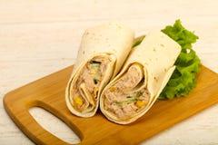 Tuńczyk chlebowa rolka Fotografia Stock