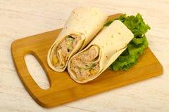 Tuńczyk chlebowa rolka Obrazy Royalty Free