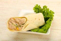 Tuńczyk chlebowa rolka Obrazy Stock