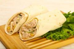 Tuńczyk chlebowa rolka Zdjęcie Royalty Free