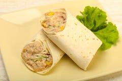 Tuńczyk chlebowa rolka Zdjęcie Stock
