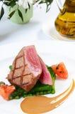 Tuńczyk grill z asparagusem Zdjęcie Royalty Free