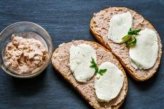 Tuńczyk kanapka Zdjęcia Stock