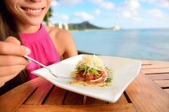 Tuńczyk tartare - surowy ahi hawajczyka naczynie Obrazy Royalty Free