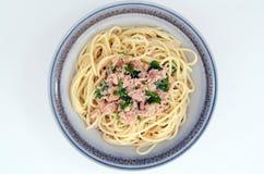 Tuńczyka spaghetti Fotografia Stock