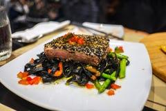 Tuńczyka stek Zdjęcia Royalty Free