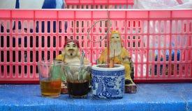 Tu Di Gong, dios de tierra chino adorado Foto de archivo libre de regalías