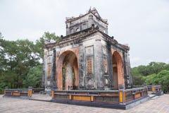 Tu Duc emperor tomb in Hue Vietnam. Tomb of Vietnam emperor Tu Duc in Hue royalty free stock images
