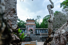 Tu Duc Tomb, Grab-Bereich, Farbe, Vietnam Lizenzfreies Stockfoto