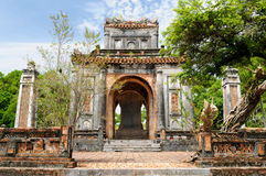 Tu Duc tomb in Vietnam. Vietnam, ancient Tu Duc royal tomb near Hue city Stock Photo