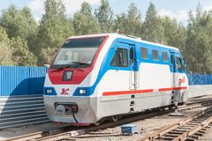 TU10-011 locomotive on Children's railroad. Russia Stock Image
