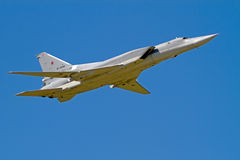 Tu-22M  in the blue sky Royalty Free Stock Images