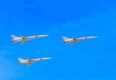 3 Tu-22M3 Tupolev naddźwiękowy (Obraca się przeciwko) Fotografia Royalty Free