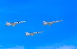 3 Tu-22M3 Tupolev naddźwiękowy (Obraca się przeciwko) Zdjęcia Stock