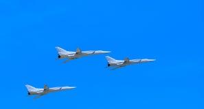 3 Tu-22M3 Tupolev (Obraca się przeciwko) Fotografia Stock