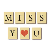 Tu me manque. Image libre de droits