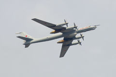 Tu-142MK `Alexander Mozhaisky` RF-34063 takes part Royalty Free Stock Photo