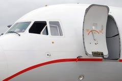 Tu okno Rosyjska samolotowa bajka drzwi, i fotografia stock
