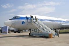 Tu-155 på den internationella rymdsalongen för MAKS Royaltyfri Fotografi