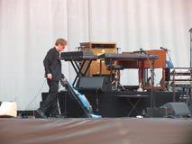 Tuż przed koncertem Leonard Cohen w Lucca, 9 2013 Lipiec Obrazy Stock
