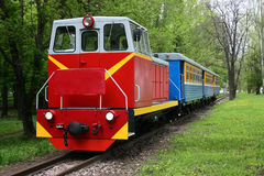 TU7A, Rostov-on-Don. Russia, May 9, 2011, a narrow-gauge children`s railway, the park named after N. Ostrovsky Royalty Free Stock Image