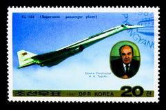 Tu-144, serie dell'aeroplano, circa 1987 Fotografia Stock Libera da Diritti