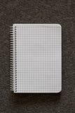 tu twój notatnik ślimakowaty tex Fotografia Royalty Free