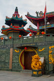 Tua Pek Kong chińczyka świątynia Bintulu miasto, Borneo, Sarawak, Malezja obraz royalty free