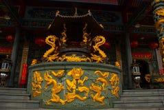 Tua Pek Kong Chinese Temple Bintulu stad, Borneo, Sarawak, Malaysia Fotografering för Bildbyråer
