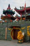 Tua Pek Kong Chinese Temple Bintulu stad, Borneo, Sarawak, Malaysia royaltyfri bild