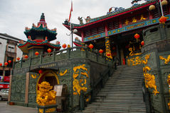 Tua Pek Kong Chinese Temple Cidade de Bintulu, Bornéu, Sarawak, Malásia Imagens de Stock Royalty Free