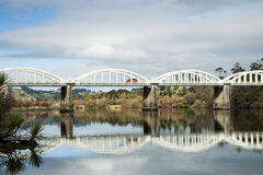 Tuakau Bridge across the Waikato. Stock Images
