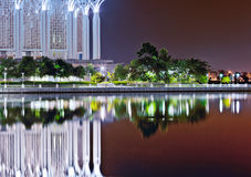 Tuanku Mizan/Iron Mosque Putrajaya, Malaysia. Tuanku Mizan or commonly known as The Iron Mosque front elevation with reflection on the lake surface Stock Image