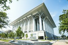 TUANKU MIZAN ZAINAL ABIDIN MOSQUE - PUTRAJAYA. Located in Precint 3 opposite the Palace of Justice, this is the second principal mosque in Putrajaya. It was royalty free stock photo
