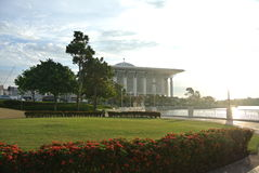 Tuanku Mizan Zainal Abidin Mosque in Putrajaya Stock Photo
