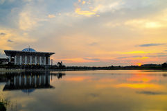 Tuanku Mizan Zainal Abidin Mosque during sunset Royalty Free Stock Photography