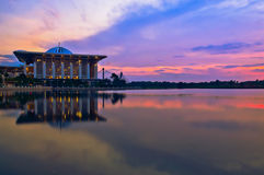 Tuanku Mizan Zainal Abidin Mosque during sunset Stock Photo