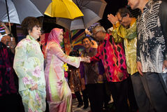 Tuanku Nur Zahirah. KUALA LUMPUR, MALAYSIA-MAY 21: Tuanku Nur Zahirah, the Queen (Queen Consort) of Malaysia during the celebration of Color of 1 Malaysia on May Royalty Free Stock Photo