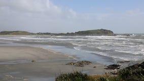 Tuaranga bay. West coast on Tasman Sea - New Zealand stock footage