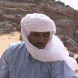 Tuareg in the desert. Ubari Desert, Libya - May 04, 2002 : Tuareg in the Sahara desert Royalty Free Stock Photos