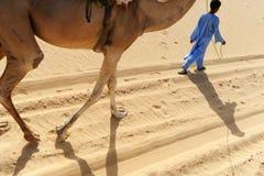 Tuareg with his camel. Tuareg child with his camel near timbuktu Royalty Free Stock Photos