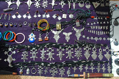 Tuareg jewellery for sale in Niger. An assortment of Tuareg jewellery for sale in Niger Royalty Free Stock Photos