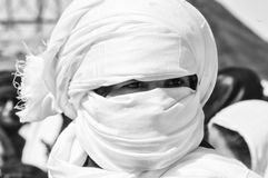 Tuareg man portrait. In western sahara royalty free stock image