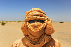 Tuareg posing for a portrait Stock Photos