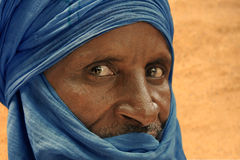 Tuareg posing for a portrait. TIMBUKTU, MALI. Tuareg posing for a portrait in camp near Timbuktu stock photography